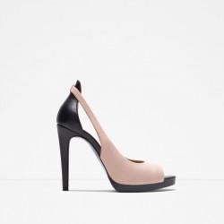 Zara Zwart-roze damesschoen