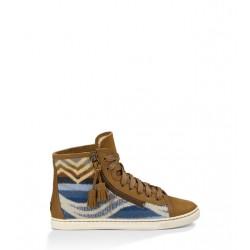 UGG Bruin-blauwe schoen met veters